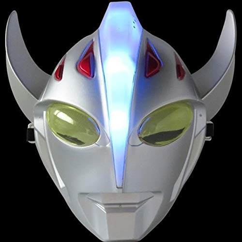 HOLLUK Led Glowing Super Hero Mask The Man Man Party Cosplay Halloween Mask Toy -Multicolor Complete Series Merchandise -