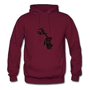 Burgundy Custom Water_me Women Funny Sweatshirts X-large