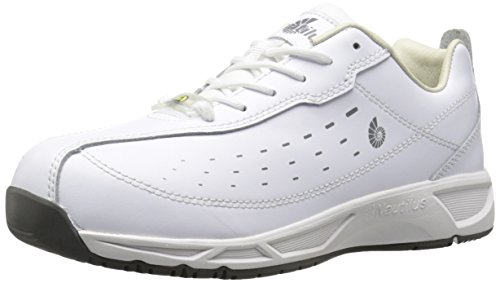 Nautilus 4046 ESD No Exposed Metal Soft Toe Clean Room Athletic Shoe, White, 6 M US by Nautilus Safety Footwear
