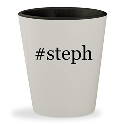 #steph - Hashtag White Outer & Black Inner Ceramic 1.5oz Shot Glass