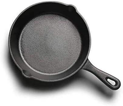Fonte Pan Pot poêlon en fonte Meilleur Heavy Duty Pan professionnel aguerri Batterie de cuisine for la cuisson Saute de cuisson 16cm (Color : -)