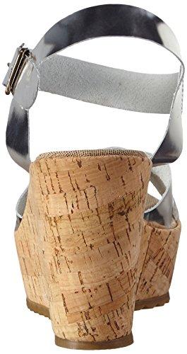 Bunker Sandal - Correa de tobillo Mujer Plateado - plateado (plateado)
