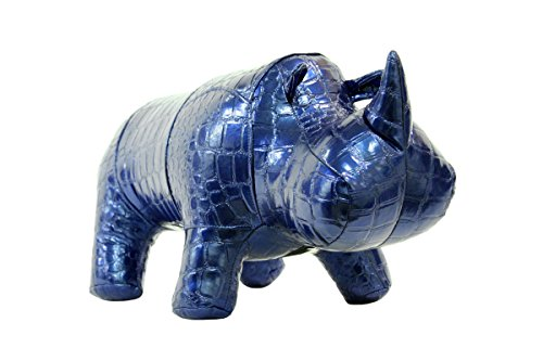 # 1 Christmas gift! Rhino designer toy unique gift and living/dining room/office decor idea color blue (Platty 4507) by hippo-starr