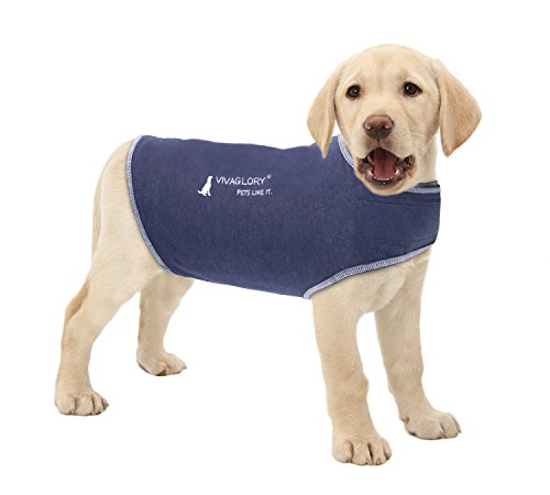 Vivaglory-Anxiety-Shirt-Stress-Relief-and-Anti-Anxiety-Wrap-for-Dogs-Adjustable-Dark-Denim-S