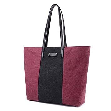 LKKLILY-Lona hecha a mano, bolsa grande para mujer, bolso de mano,