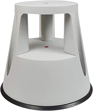 CAIJUN Taburete De Escalera PP Plástico Escalera De 2 Escalones Multifunción Diseño De Polea Portátil Montaje Antideslizante Casa, 4 Colores Doble Uso (Color : Gray, Tamaño : 43x41.5cm): Amazon.es: Hogar