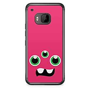 Loud Universe Pink 3 Eyed Monster HTC M9 Case Monsters Inc HTC M9 Cover with Transparent Edges