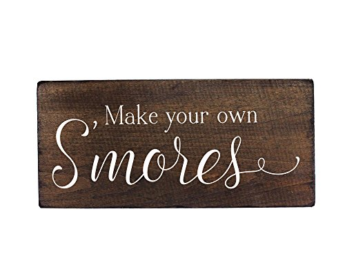 Outdoor Party Decorations Smores Bar Sign Supplies for Wedding - By Elegant Signs