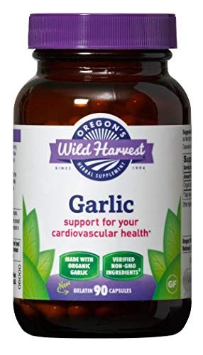 (Oregon's Wild Harvest Non-GMO Garlic Capsules,  Organic Herbal Supplements (Packaging May Vary), 90 Count)