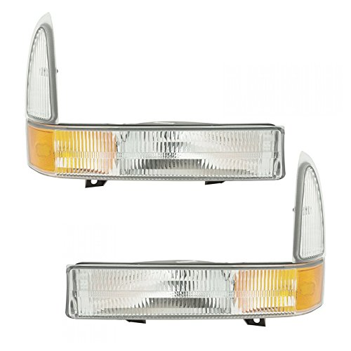Corner Parking Turn Signal Light Lamp Left/Right Pair Set for Super Duty Truck