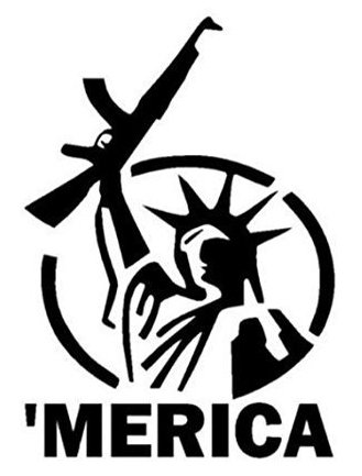 Lowest Price! Statue of Liberty Gun Rights Decal - Merica Car Bumper Window Laptop Wall Sticker Free...