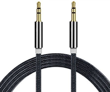 I-Sonite (Black Gold Plated Nylon Material Braided 3.5mm Jack To Jack...