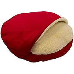 Snoozer Luxury Cozy Cave, Red, Large