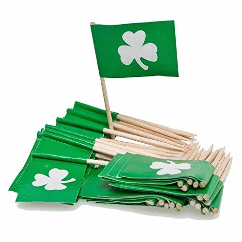 Shamrock Cupcake Food Picks Drink St. Patrick's Day Pick Irish Cocktail