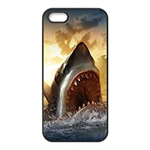 iPhone 5 5s Cell Phone Case Black Ocean Shark Sharp Mouth Painting SP4152253