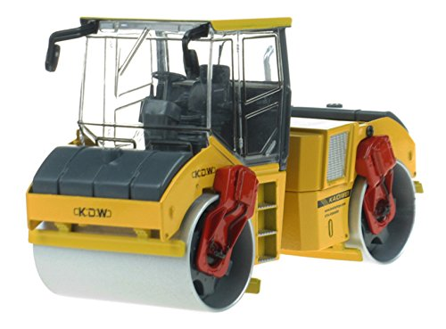 Tandem Drum - Happy Cherry Scale 1:35 Alloy Tandem Compactor Diecast Asphalt Drum Compactor - Yellow