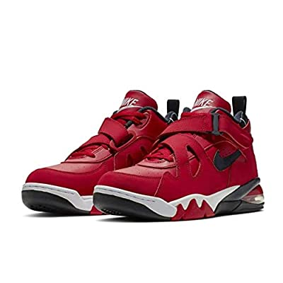 Nike Air Force Men's Max CB Leather Basetball Shoes (9.5, Gym Red/White/Black) | Basketball