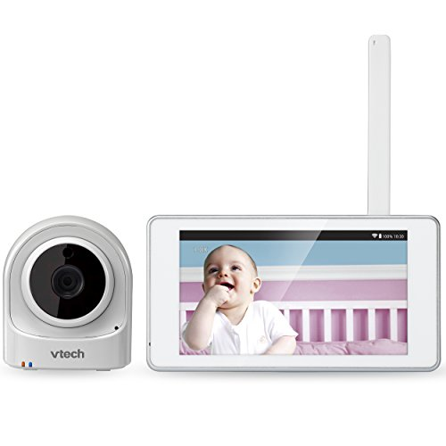 vtech vm981 wireless wifi video baby monitor with remote access app 5 inch touch screen remote. Black Bedroom Furniture Sets. Home Design Ideas