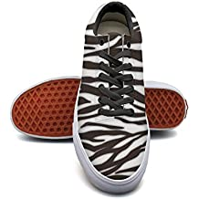 QJSY Women Fashion Canvas Sneaker Zebra Stripes Low Cut Canvas Sports Shoes