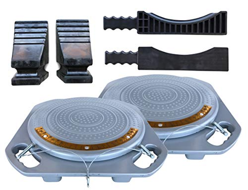 (PAIR of Zackman Scientific Wheel Alignment Turn Plate, Turnable with 5 Ton Capacity, Free Transition Bridge & Thrust block (Pair) Inclusive )
