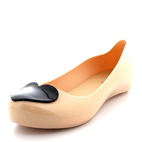 Corazon Mujer Bailarina Trabajo Zapatos Amor Ponerse Verano Negro Nude Ballet Flat t7rq1wP7