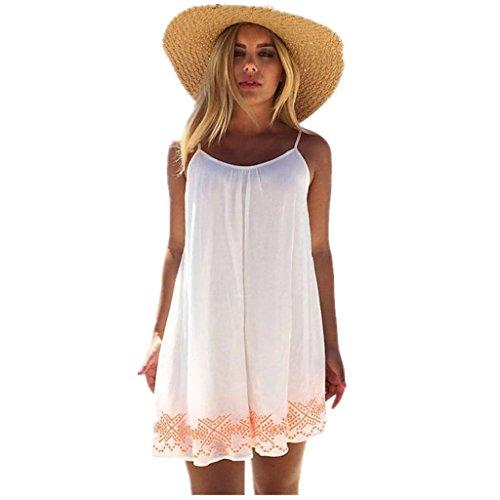 Tweed Mini Dress (Beautyfine Boho Sundress Women Backless Short Summer Evening Party Beach Mini Dress)