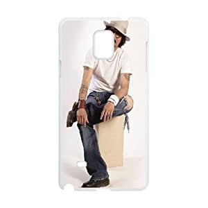 Johnny Depp Samsung Galaxy Note 4 Cell Phone Case White ckf vxcf
