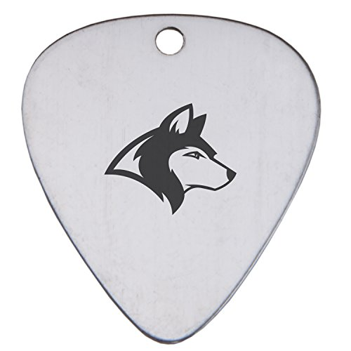 (Siberian Husky Metal Guitar Pick With Laser Engraved Design - Acoustic Electric Guitar Picks For Beginners And Advanced Players - Metallic Guitar Pick Gift)