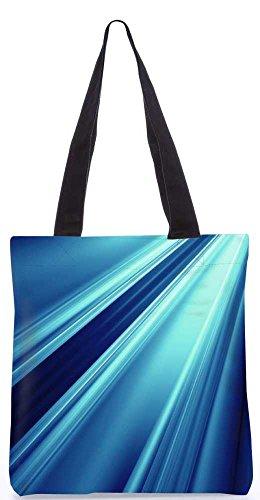 """Snoogg Abstrakte Blaue Design-Muster-Einkaufstasche 13,5 X 15 In """"Einkaufstasche Dienstprogramm Trage Von Polyester Canvas"""