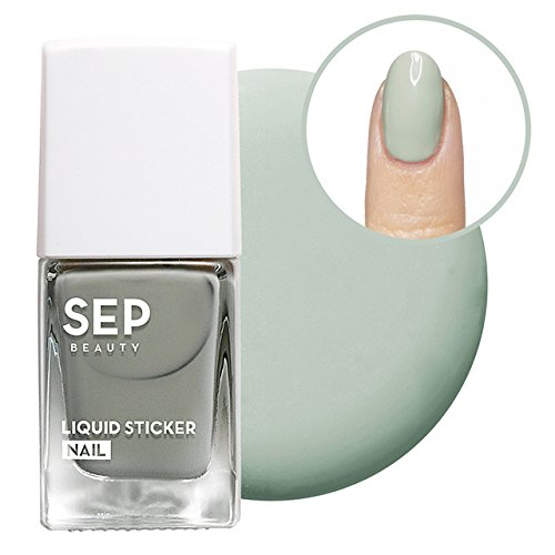 [SEP BEAUTY] Macaron Liquid Sticker Nail 9.5ml - Vivid and Glowing Water Base Nail Polish Strips (Easily Applied and Removed Like Stickers) (#Pistachio Mint)