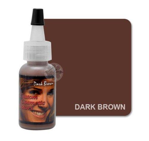 Dark Brown EYEBROW Permanent Makeup Cosmetic Tattoo Ink 1/2oz