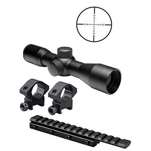 M1SURPLUS Tactical Kit for Henry Arms 22 Lever Action Carbine, Mossberg 702 Plinkster, Marlin Model 40 61 795 Rifles - Includes The Following - Compact 4x30 Rifle Scope + Scope Rings + Adapter Mount (Henry 22 Lever Action Rifle Golden Boy)