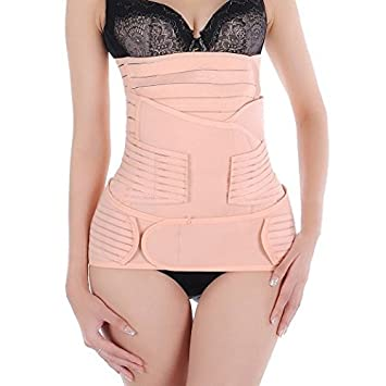 d16ddc7be8 Amazon.com  Ambox 3 in 1 Breathable Elastic Adjustable Postpartum Postnatal  Recovery Support Girdle Belly Waist Back Pelvic Post Pregnancy Belt  Shapewear ...