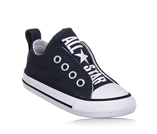 Converse Kids Chuck Taylor All Star Core Slip (Infant/Toddler), Athletic Navy/White, 3 Infant M ()