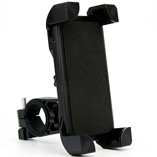 - Bike Phone Mount, DHYSTAR Mobile Cell Phone Bicycle Motorcycle Handlebar Mount Holder Cradle Bracket Stand Support for Most Smartphones, 360 Degree Rotation Adjustable (Black)