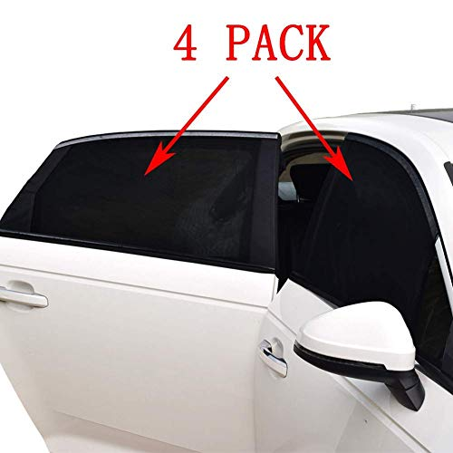 (Car Window Shade -4 PACK- Car Sun Shade for Baby Car Side Rear Sun Shade Front Window Sunshade for Cars Trucks & SUVs)