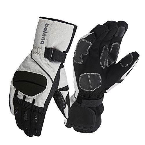 Balnna Ski Snowboard Gloves with 3M Thinsulate,Touch Screen Cold Weather Cycling Gloves (Small, Black&Gray)