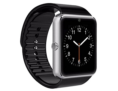 Smart Watch, Pushman 2 Sweatproof Smart Watch Phone for iPhone 5s/6/6s and 4.2 Android or Above SmartPhones,Pushman (Silver)
