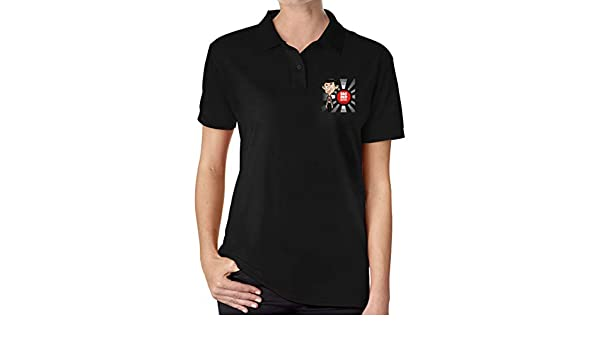 UP LUCK Mr Bean Women Premium Office Polo Shirt: Amazon.es: Ropa y ...