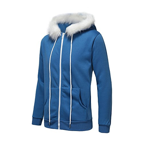 Review Fashion Blue Cool Hoodie