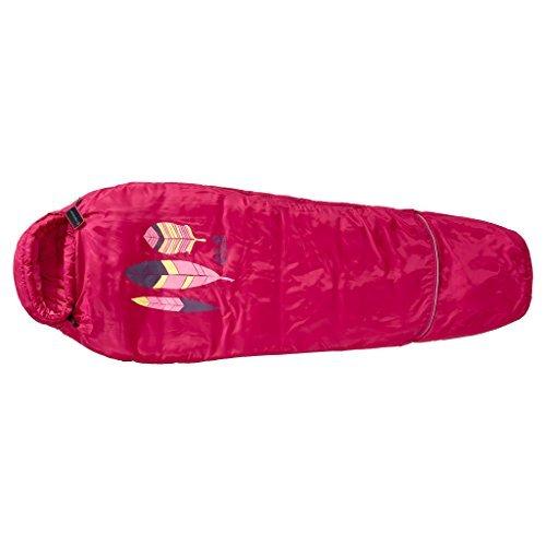 Jack Wolfskin children's Grow Up summer sleeping bag azalea red [並行輸入品] B07C7X59ZN