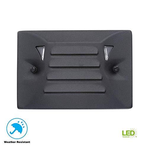 - Low-Voltage LED Black Flushmount Half Brick Step Light
