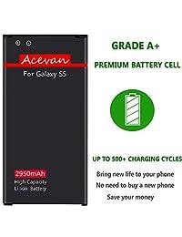Batería de repuesto para Samsung Galaxy S5, Verizon G900V, Sprint G900P, T-Mobile G900T, AT&T G900A, G900F, G900H, G900R4, I9600, ión de litio de 2950 mAh