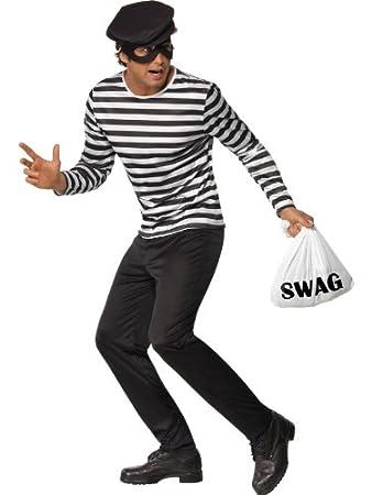 Adult Cops u0026 Robbers Fancy Dress Bank Robber Costume Chest 38u0026quot;-40u0026quot;  sc 1 st  Amazon UK & Adult Cops u0026 Robbers Fancy Dress Bank Robber Costume Chest 38
