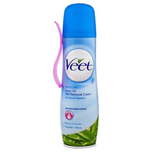 Veet Crema Depilatoria en Spray Piel Sensible - 150 ml: Amazon.es: Belleza