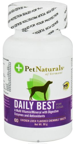 Pet Naturals of Vermont Daily Best for Dogs Chicken Liver Flavored - 60 Chewable Tablets, Pack of 12 (image may vary)