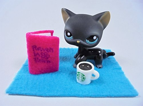 happyblockbuilder LPS Accessories Littlest Pet Shop Random 3 pc. Reading Set Gift Bag Includes: 1 Starbucks Mug + 1 Book + 1 Blanket; Pet NOT included!