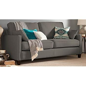 Amazon Com Serta Geneva 85 Quot Sofa In Cozy Gray Kitchen