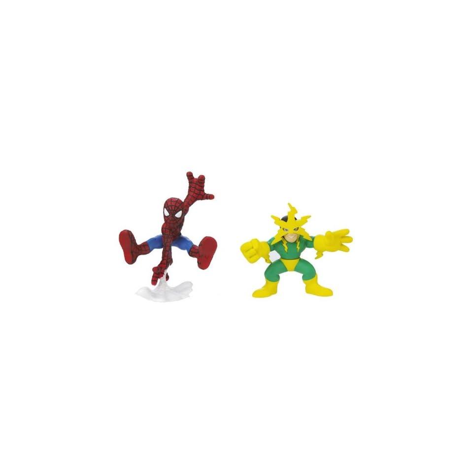 Marvel Superhero Squad Series 16 Spider Man & Electro Action Figure 2 Pack