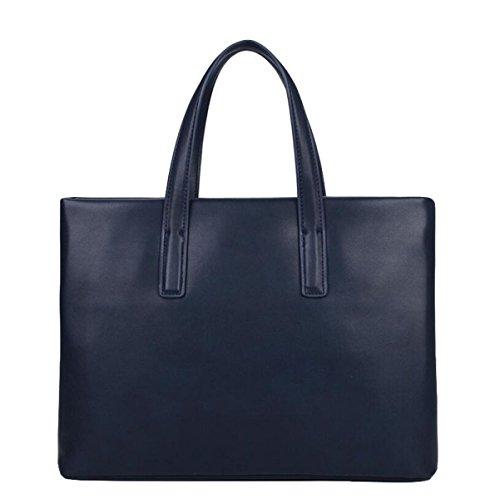 Hombres Bolsa De Negocios Maletín Ordenador Bolsa Messenger Bag Bolsa De Hombro Casual Moda Simple Blue
